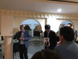 追悼の様子3:本部和彦 東京大学公共政策大学院客員教授 撮影