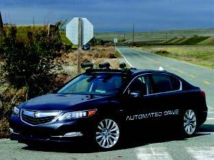 ホンダが公開した自動運転技術の実験=昨年11 月、米カリフォルニア州
