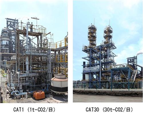 写真1 化学吸収試験設備